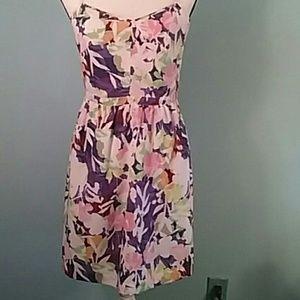 J crew size 6 floral sundress pockets colorful
